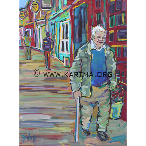 Old Man Dingle - print by Artist John Bukaty