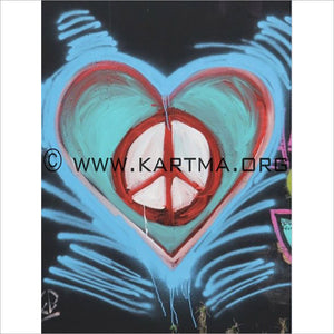Peace Wall - print by Artist John Bukaty