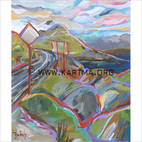 The Road Behind Me - print by Artist John Bukaty