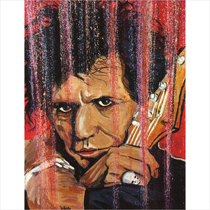 Keith Richards Print by Artist John Bukaty