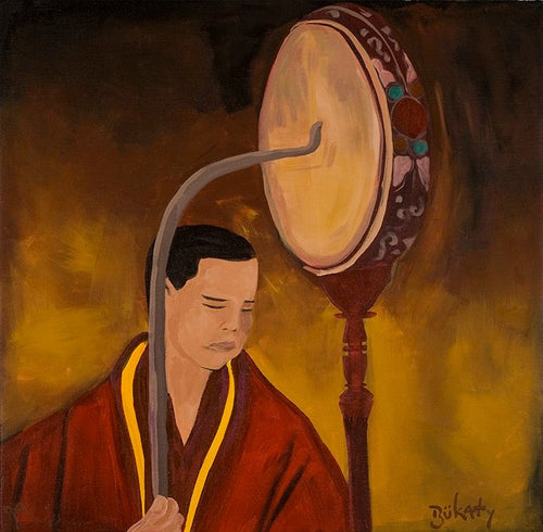 Young Monk - Print by Artist John Bukaty