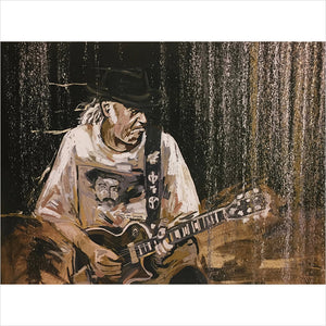 Neil Young print by Artist John Bukaty