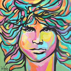 Lizard - Original Painting of Jim Morrison by Artist John Bukaty.
