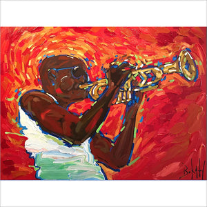 Trombone Shorty - Original Painting by John Bukaty