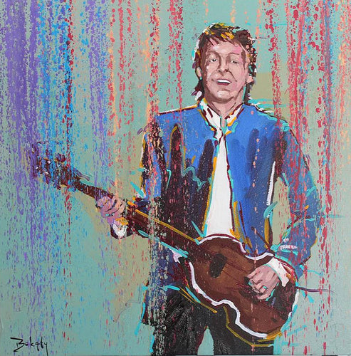 Walrus - Original Painting of Paul McCartney by Artist John Bukaty