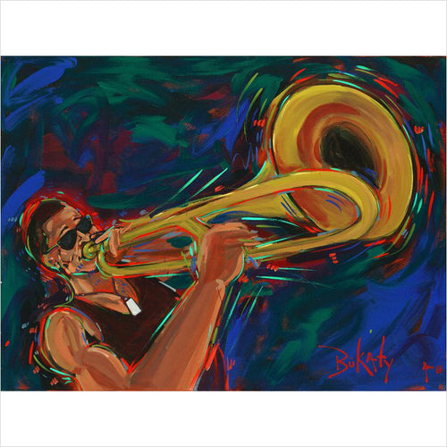 Shorty at Jazz Fest 2012 by Artist John Bukaty