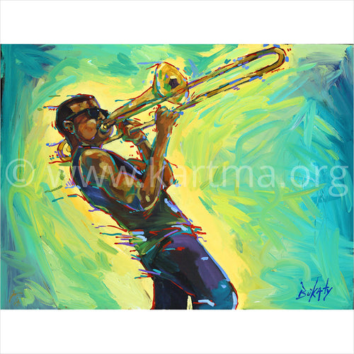 Trombone Shorty at Shorty Fest 2014 - print by John Bukaty