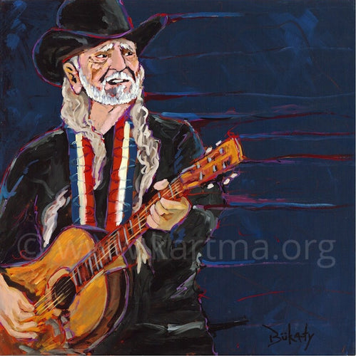 Willie Nelson print by Artist John Bukaty