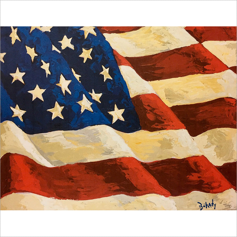 Old Glory - Print by Artist John Bukaty