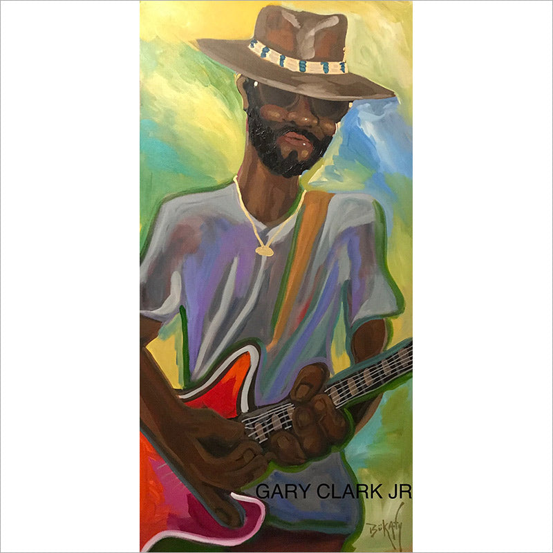 Gary Clark, Jr - Original Painting by Artist John Bukaty