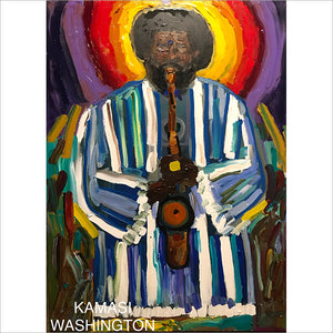 Kamasi Washington - original painting by Artist John Bukaty