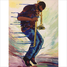 Load image into Gallery viewer, Trombone Shorty print by Artist John Bukaty