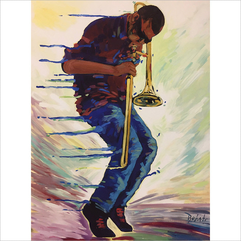 Trombone Shorty print by Artist John Bukaty