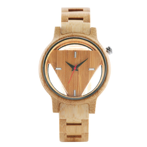 Wooden Quartz Beige Watch