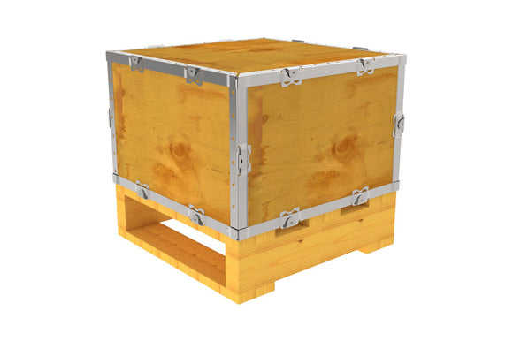 Simple-Lock™ Crate - With Pallet - 17 1/8 x 17 1/8 x 11 1/8