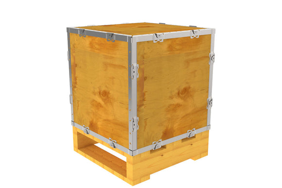 Simple-Lock™ Crate - With Pallet - 17 1/8 x 17 1/8 x 17 1/8