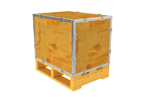 Simple-Lock™ Crate - With Pallet - 23 1/8 x 17 1/8 x 17 1/8