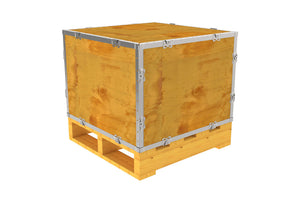 Simple-Lock™ Crate - With Pallet - 23 1/8 x 23 1/8 x 17 1/8