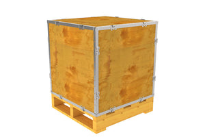 Simple-Lock™ Crate - With Pallet - 23 1/8 x 23 1/8 x 23 1/8
