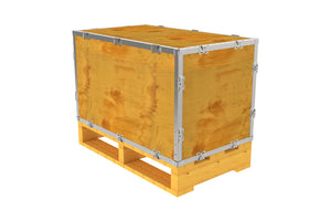 Simple-Lock™ Crate - With Pallet - 29 1/8 x 17 1/8 x 17 1/8