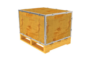 Simple-Lock™ Crate - With Pallet - 29 1/8 x 23 1/8 x 17 1/8