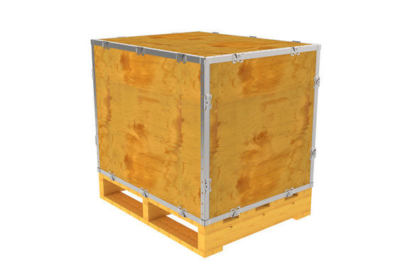 Simple-Lock™ Crate - With Pallet - 29 1/8 x 23 1/8 x 23 1/8