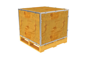 Simple-Lock™ Crate - With Pallet - 29 1/8 x 23 1/8 x 29 1/8