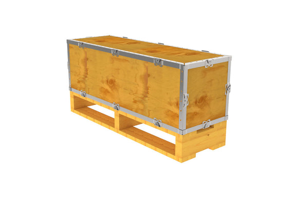 Simple-Lock™ Crate - With Pallet - 35 1/8 x 11 1/8 x 11 1/8