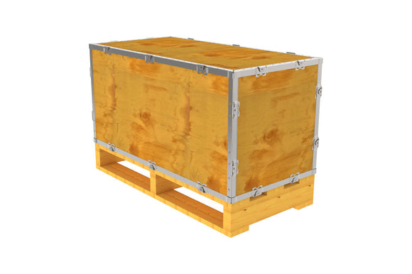 Simple-Lock™ Crate - With Pallet - 35 1/8 x 17 1/8 x 17 1/8