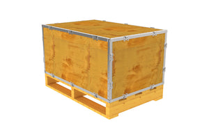 Simple-Lock™ Crate - With Pallet - 35 1/8 x 23 1/8 x 17 1/8