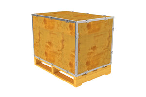 Simple-Lock™ Crate - With Pallet - 35 1/8 x 23 1/8 x 23 1/8
