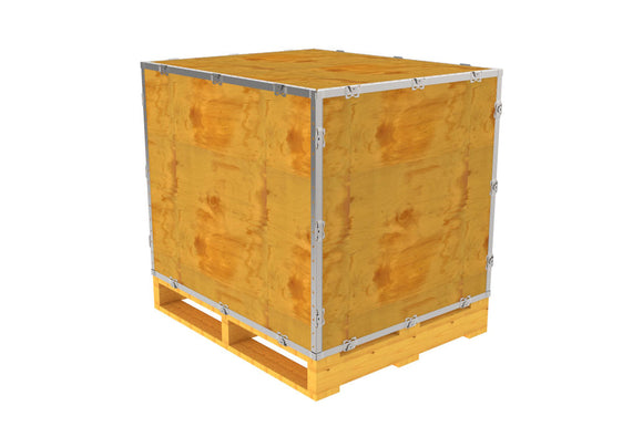 Simple-Lock™ Crate - With Pallet - 35 1/8 x 29 1/8 x 29 1/8