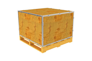 Simple-Lock™ Crate - With Pallet - 35 1/8 x 35 1/8 x 23 1/8