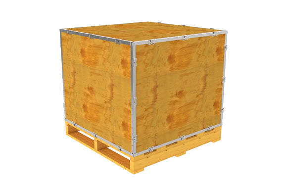 Simple-Lock™ Crate - With Pallet - 35 1/8 x 35 1/8 x 29 1/8