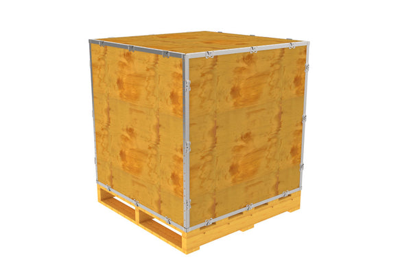 Simple-Lock™ Crate - With Pallet - 35 1/8 x 35 1/8 x 35 1/8