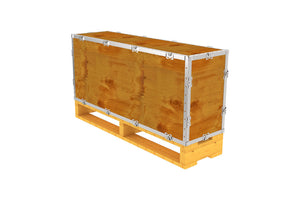 Simple-Lock™ Crate - With Pallet - 41 1/8 x 11 1/8 x 17 1/8