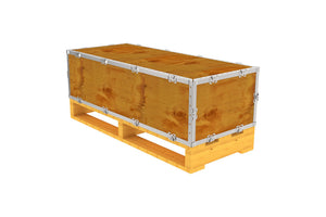 Simple-Lock™ Crate - With Pallet - 41 1/8 x 17 1/8 x 11 1/8