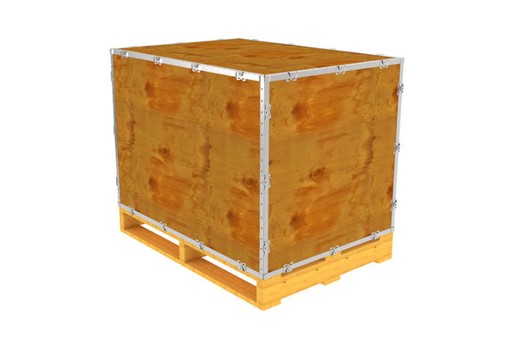 Simple-Lock™ Crate - With Pallet - 41 1/8 x 29 1/8 x 29 1/8