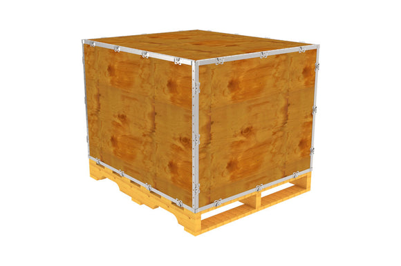Simple-Lock™ Crate - With Pallet - 41 1/8 x 35 1/8 x 29 1/8