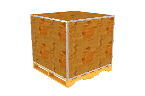 Simple-Lock™ Crate - With Pallet - 41 1/8 x 41 1/8 x 35 1/8