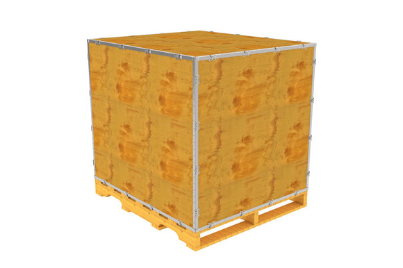 Simple-Lock™ Crate - With Pallet - 47 1/8 x 41 1/8 x 41 1/8