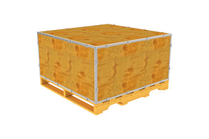 Simple-Lock™ Crate - With Pallet - 47 1/8 x 47 1/8 x 23 1/8