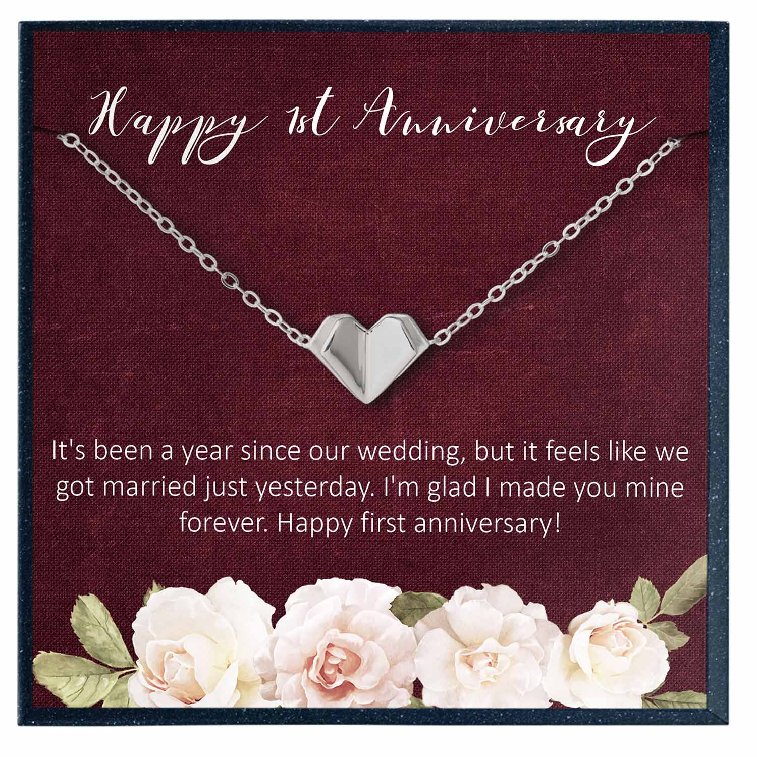 1st Anniversary Bracelet Gift for Women