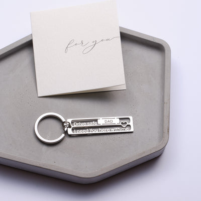 Best Dad Ever Keychain Gift - Grace of Pearl