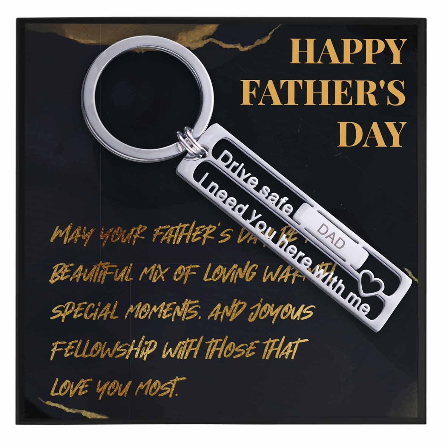 Fathers Day Keychain Gift