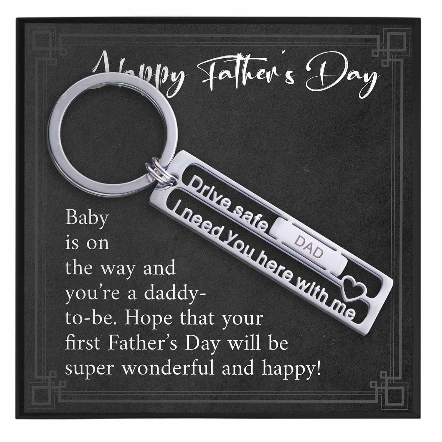 Happy Fathers Day Keychain Gift