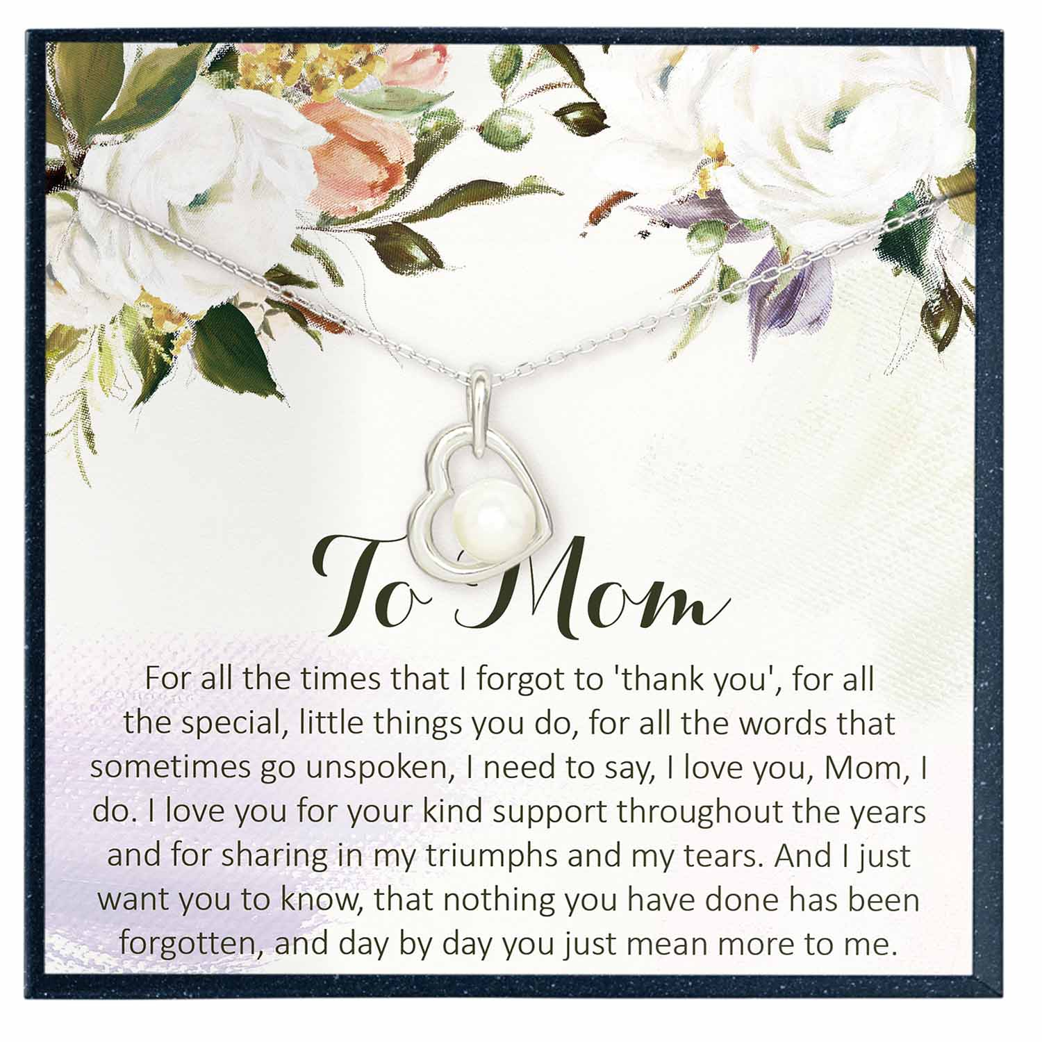 Mom Appreciation Gift for Mom Necklace