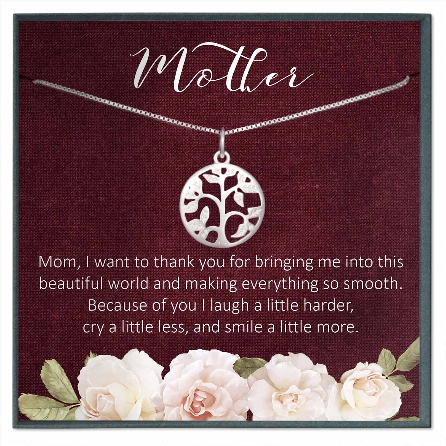 Mom Gift, Mom Life Tree Necklace Gift
