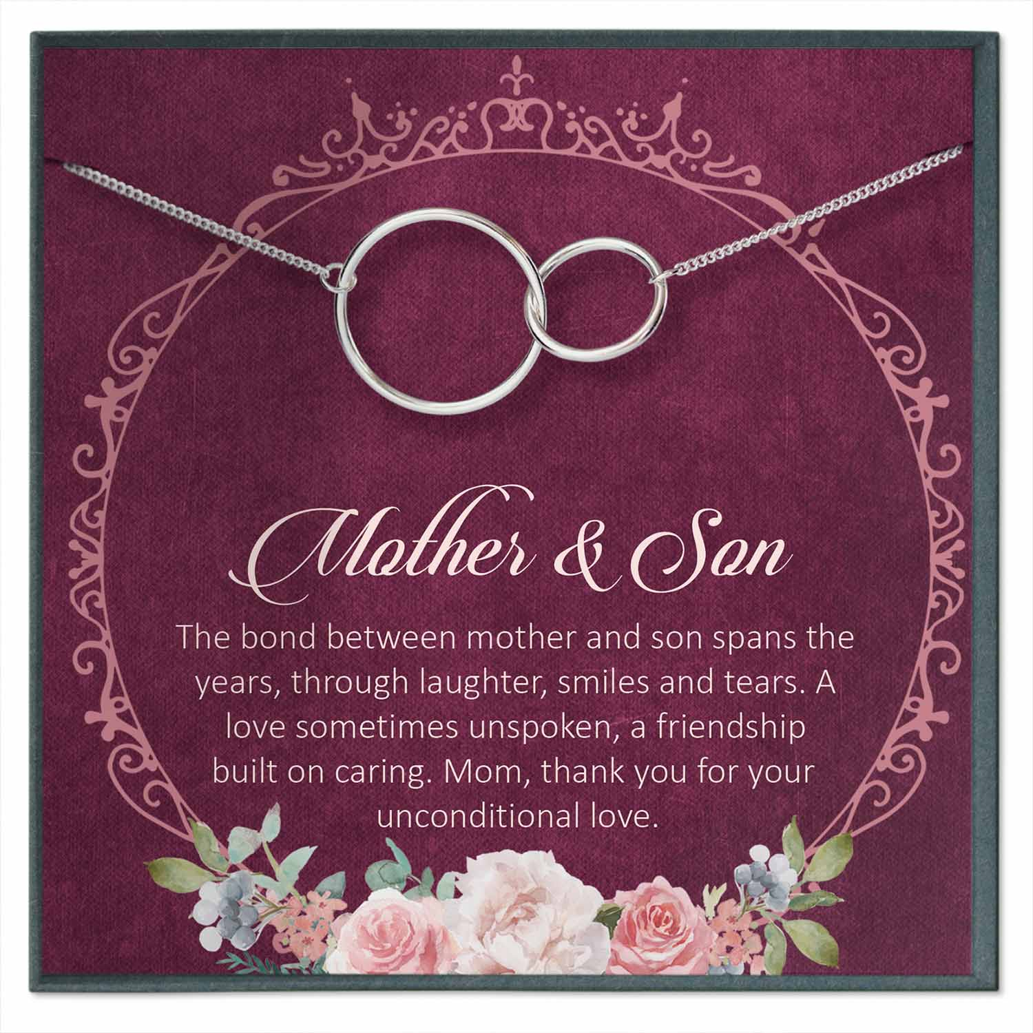 Mother Son Necklace, Mother Son Gift