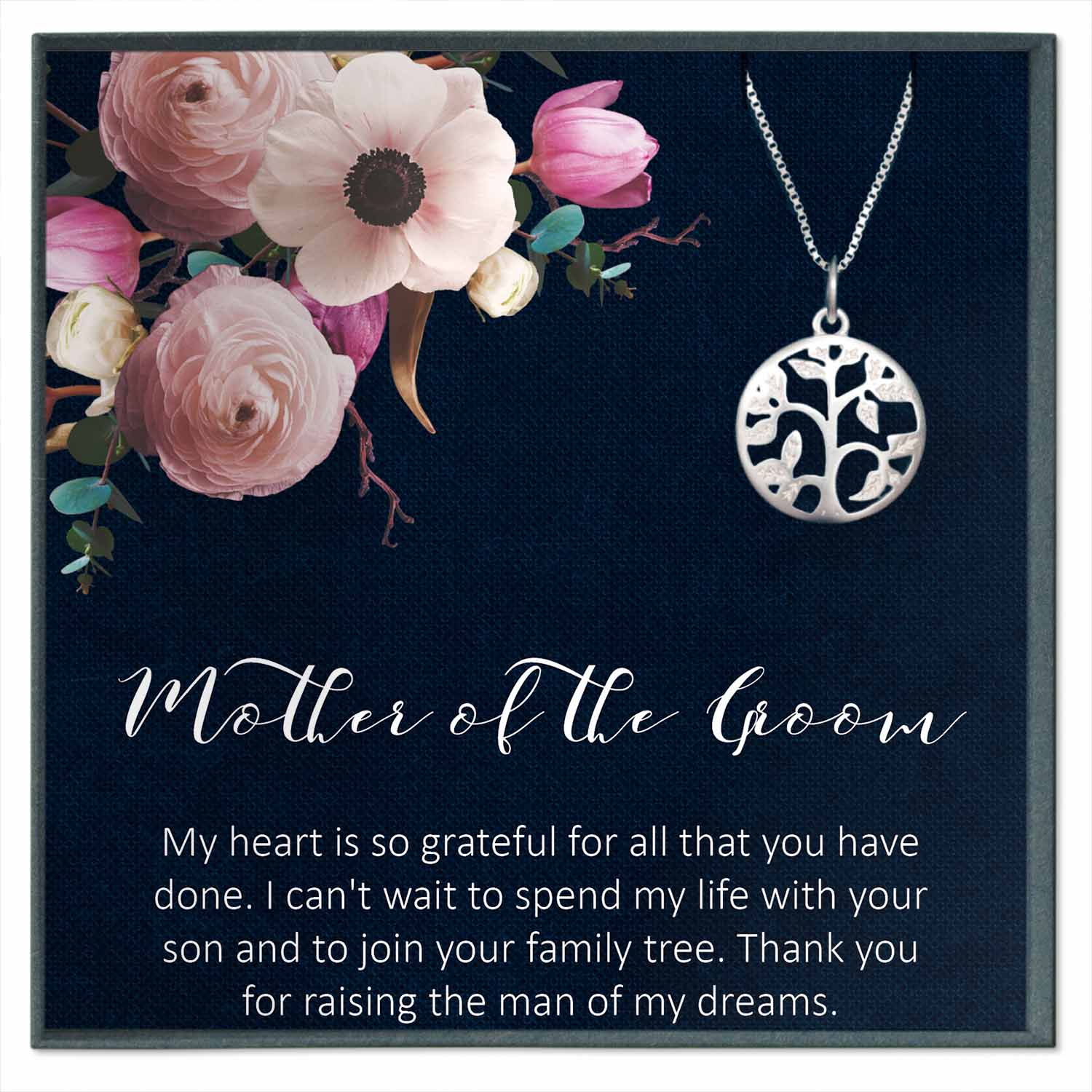 Mother of the Groom Necklace from Bride, Mother in Law Necklace Gift
